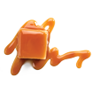 Butter Braid Pastry Caramel Roll icon - square caramel piece with caramel sauce
