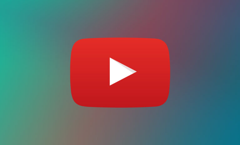 gradient background with red youtube play symbol